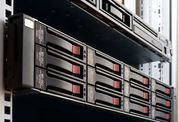 Festplattencluster in Server-Rack